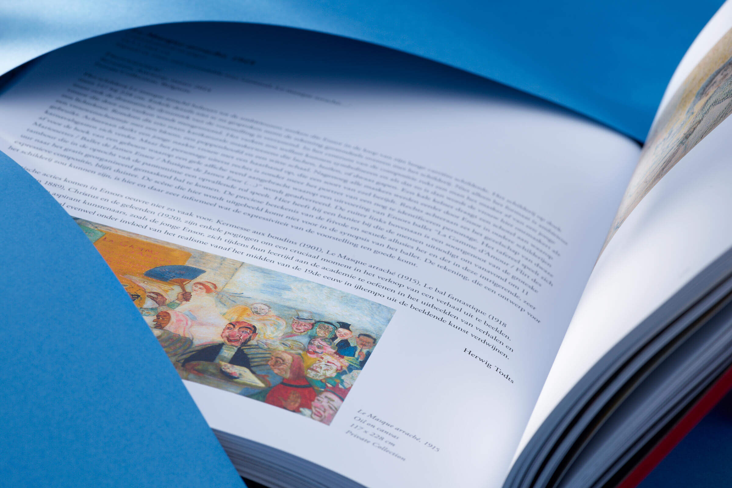 Binnenwerk kunstboek James Ensor