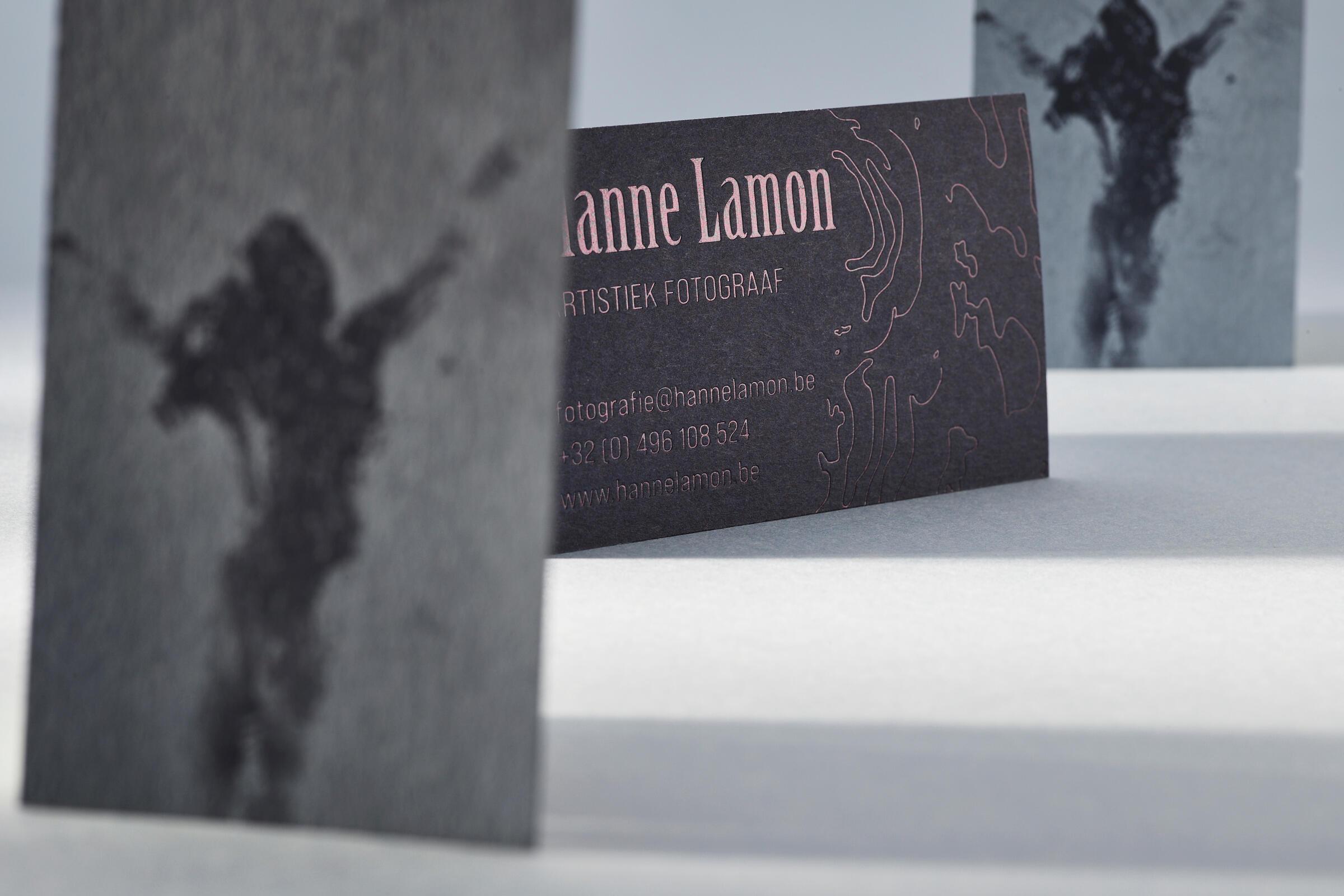 Luxe naamkaarten voor Hanne Lamon